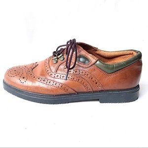 Vintage ROLLERS tan leather lace up brogues